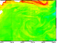 Surface currents from new GOCI dataset with maximum cross-correlation