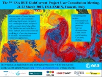 Annoucement for 3rd GlobCurrent User Consultation Meeting - 21-23 March 2017, ESA/ESRIN Frascati (Italy)